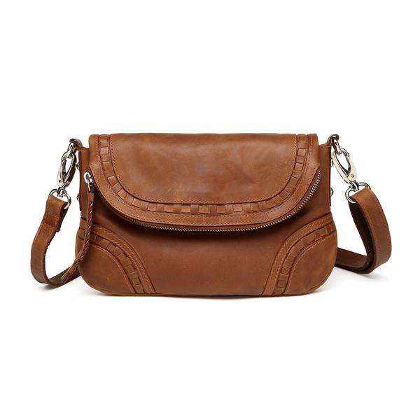 LOVE IT OR LEAVE IT: The Vicenzo Leather Bella Saddle Distressed Leather Crossbody / Handbag – Brown