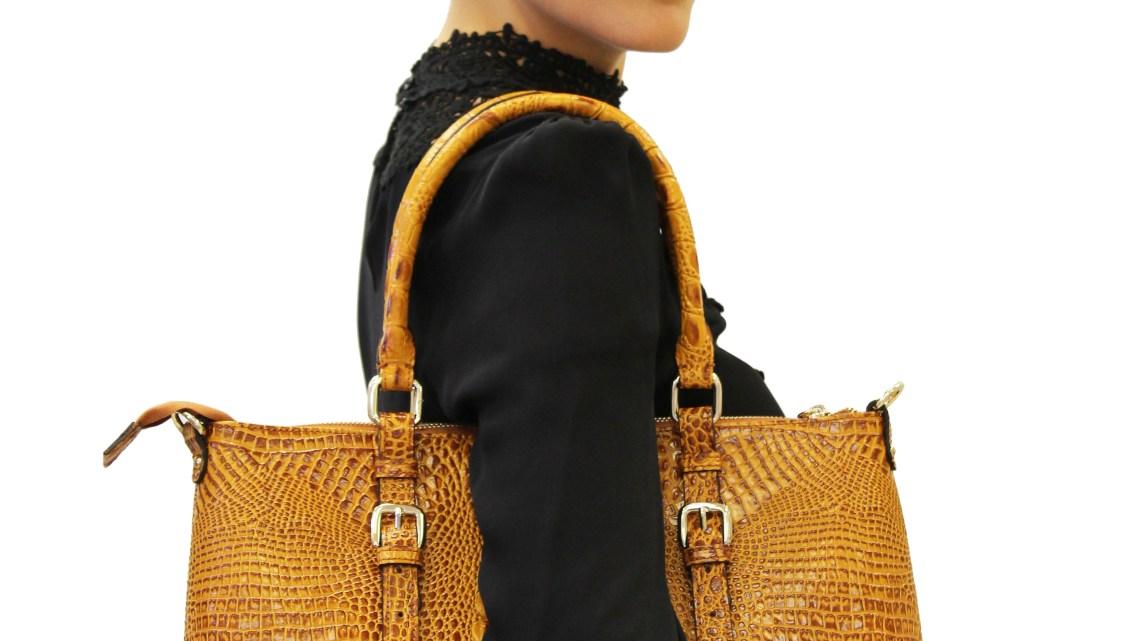 Carole Croc Leather Tote
