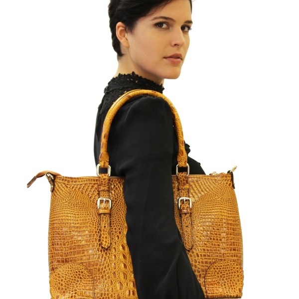 Carole Croc Leather Tote