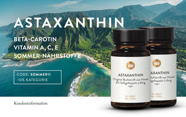 Astaxanthin – Das stärkste Antioxidans der Natur