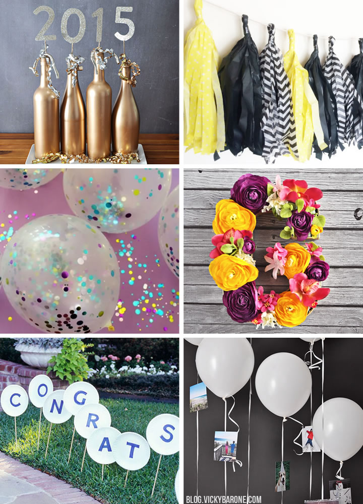 Diy graduation party decorations decoratingspecial