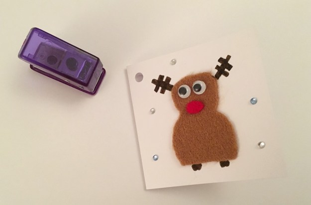 gift tag and hole punch