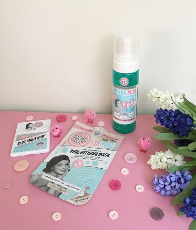 3 Soap & Glory skincare products - a flatlay