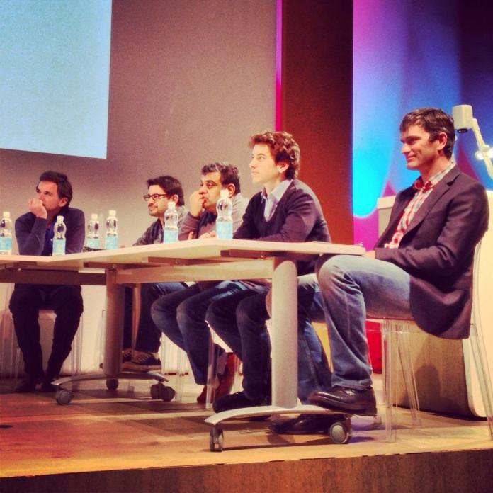 The jury, featuring Om Malik