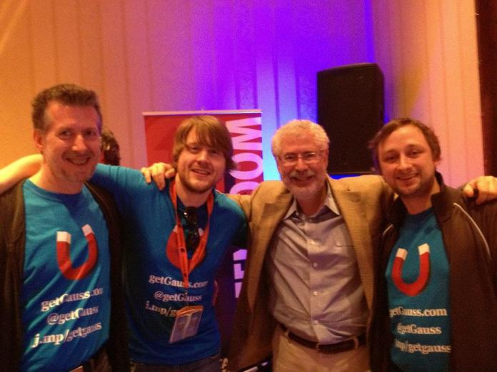 After pitching Steve Blank at SxSW 2012, co-founder Kit left, Arne right