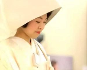 赤坂氷川神社での神前式を前に和装花嫁姿のリハーサル