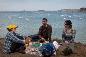 Picnic in front of Saint-Malo