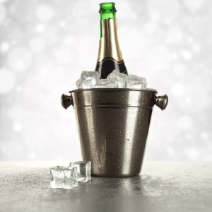 cold drink of champagne