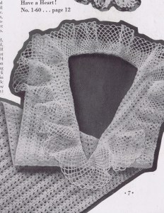 Crocheted Ruffle Dickey Pattern
