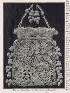 Vintage Irish crochet purse pattern 1900s