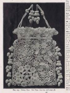Vintage Irish crochet purse pattern 1900s