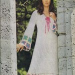 70s long dress crocheted pattern vintage medieval