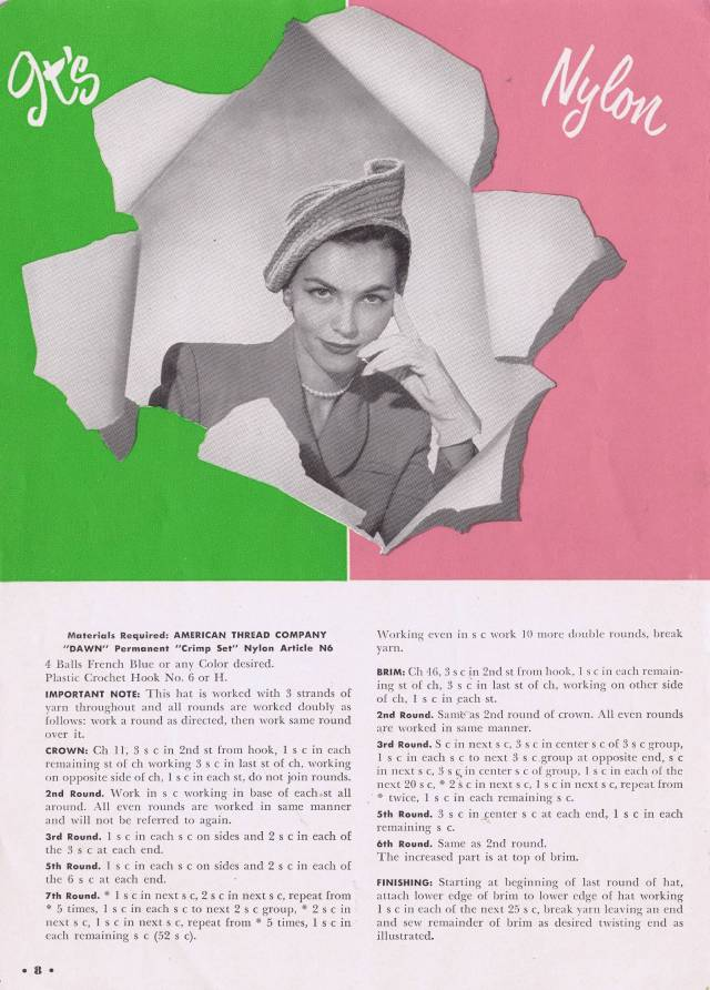 50's Beret Pattern With a Twist