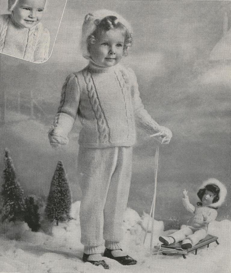Girls Boys Baby Free Vintage Knitting Patterns Vintage
