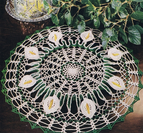 Free Vintage Calla Lily Doily Pattern