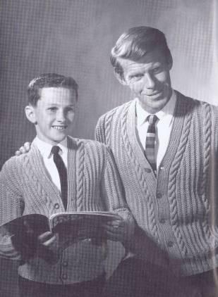 vintage 60s knitting pattern boys men