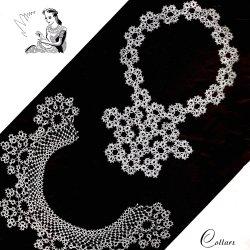 vintage 1930 jabot tatted collar pattern