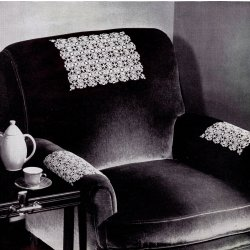 tatted chair doilies spool cotton pattern