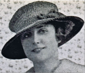 Free 1917 Mushroom Crocheted Hat Pattern