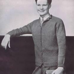vintage knit pattern raglan cardigan men