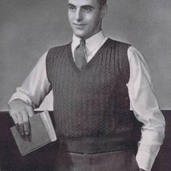 vintage sleeveless sweater pattern