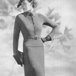 vintage military style suit pattern