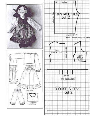 vintage rag doll pattern kelly