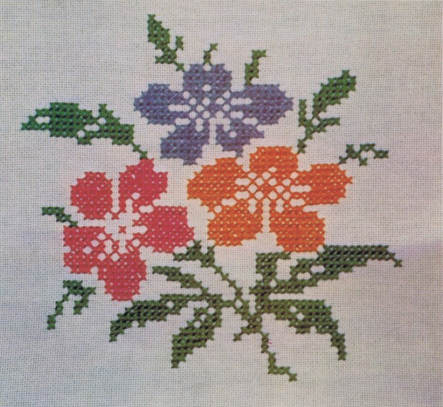 Embroidery Cross Sttich Blog Content Floral Spray Cross Stitch