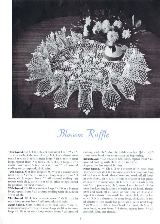 ruffle doily pattern book 143 vintage blossom ruffle