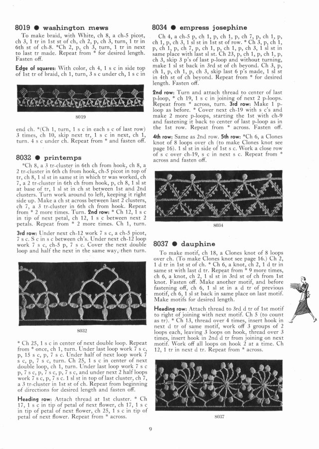 washington news | empress josephine | dauphine | printemps edging patterns