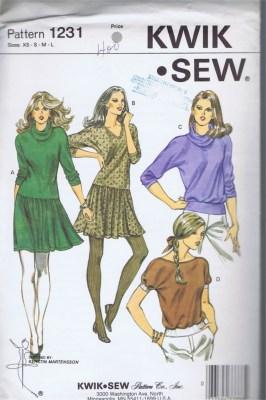 1231 Kwik Sew Patterns vintage sewing pattern