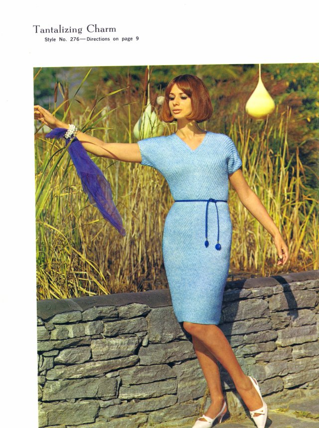 Free vintage knitting pattern Tantalizing Charm dress
