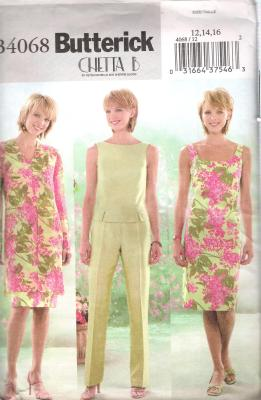 4068 Butterick sewing Pattern size 14 to 16