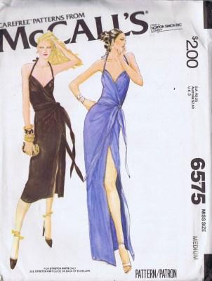 6573 halter dress evening mccalls