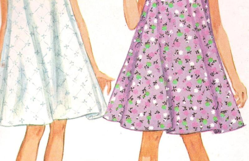 Vintage Nightgown 7141 Simplicity Pattern Bust 34-36