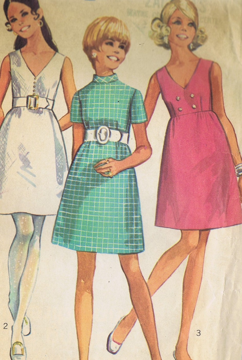 VINTAGE SEWING PATTERN 1 PC Dress SIMPLICITY 8137 BUST 34