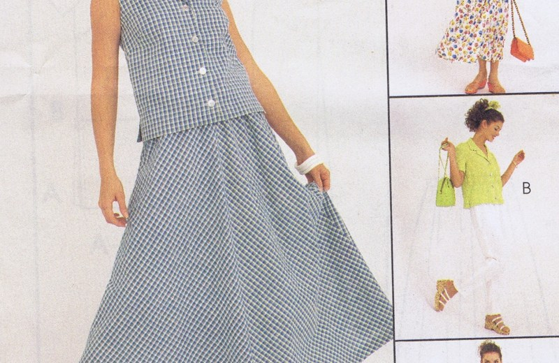 MCCALLS 8737 Skirt Top Pants Sewing Pattern Size 8-12 Uncut