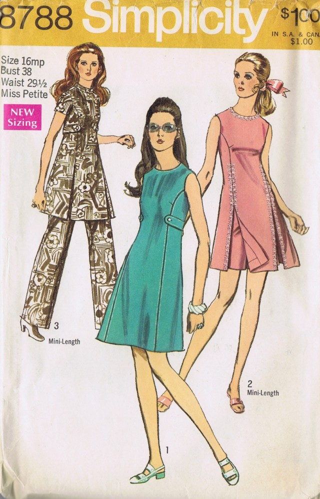 8788 simplicity dress pants sewing pattern front view