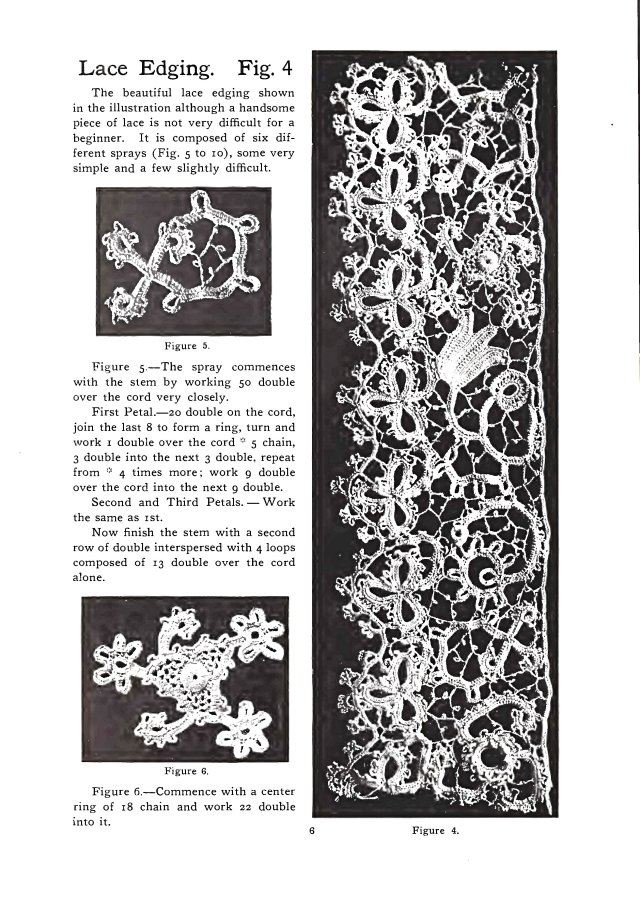 lace edging vintage irish crochet pattern
