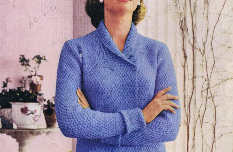 Vintage Knitting Patterns Blouse Jacket Cardigan Sweater Hughes