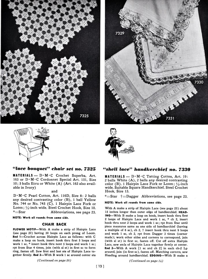 vintage 1950 hairpin lace crochet patterns jpg 853x1280