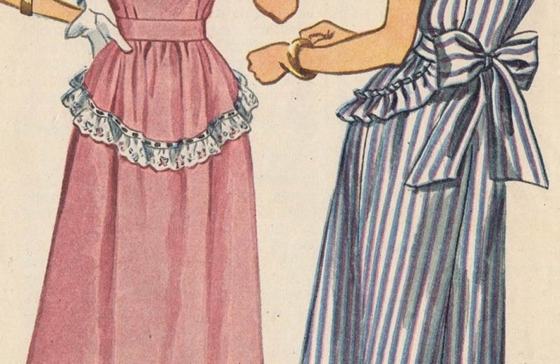 vintage 49s Dress Simplicity Sewing Pattern 1912 f featured