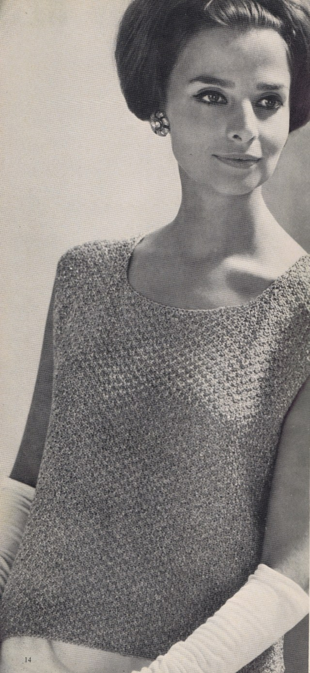 Evening Shell-Best Free Vintage Knitting Crochet Patterns 1967