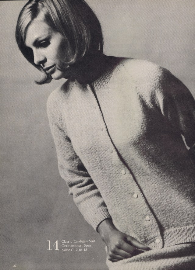 Classic Cardigan Suit Knitting Pattern Best Free Vintage Knitting Crochet Patterns 1967