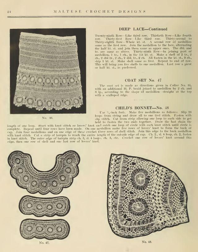 Maltese Hair Pin Lace Crochet 22