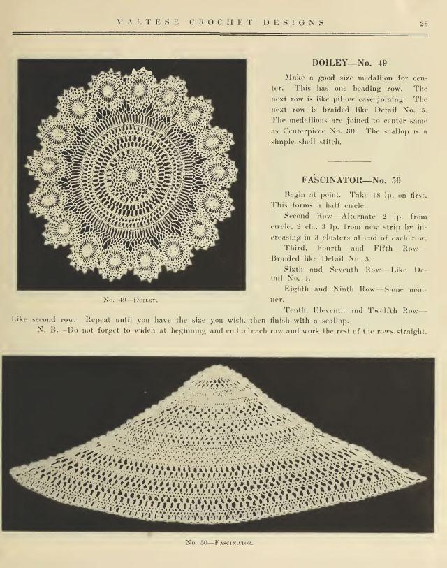 Maltese Hair Pin Lace Crochet 23