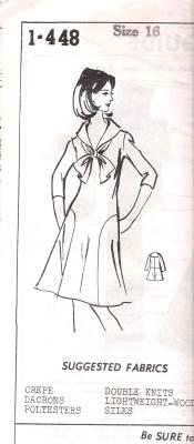 1448 Sewing Pattern Dress Uncut