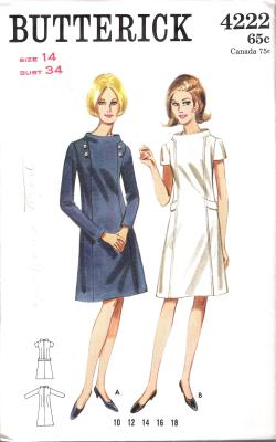 4222 Butterick Pattern One Piece Dress