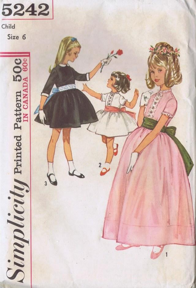 Girls Dress 5242 Simplicity Size 6