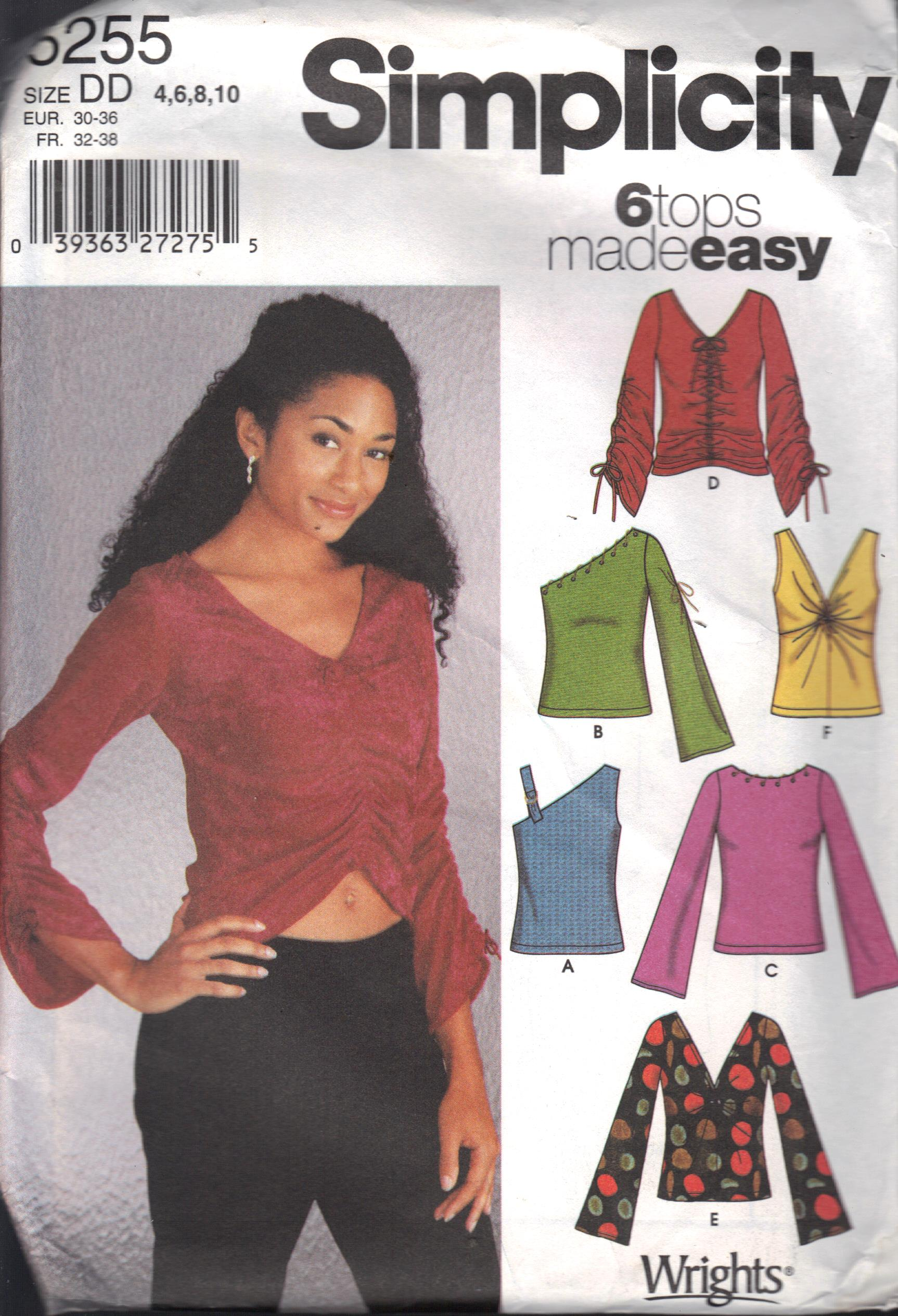 5255 Simplicity Girls Knit Top Pattern Size 4-10